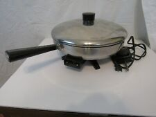 "Vintage Farberware 12"" Electric Skillet Frypan B3000 Tested and Works Great"