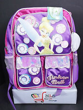 "NEW Disney Tinkerbell Backpack 16"" Shaped with Multiple Pockets"