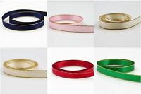 SATIN RIBBON WITH GOLD EDGE *DIFFERENT  COLOURS*3 SIZES