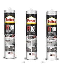 3x Pattex FT101 Kleben & Dichten Silikon Montagekleber Transparent 310g