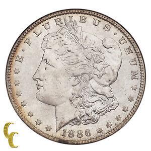 1886 Morgan Silver Dollar $1 Graded by NGC MS64