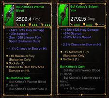 Diablo 3 ros PS4 [ softcore ] - bul-kathos's serment barbares Set [ Ancienne ]