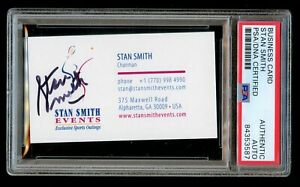 Stan Smith signed autograph Business Card Events Chairman PSA Slabbed