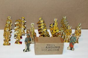 24 VINTAGE MARX TIN METAL SOLDIER of FORTUNE GAME FIGURES in BOX
