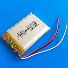 600mAh lipo rechargeable battery 3.7v for MP3 Mp4 PSP GPS Recorder 503040 3wires