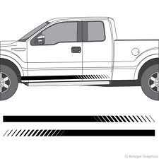 Ford F-150 F-250 F-350 Faded Rocker Panel Racing Stripes 3M Vinyl Decal Kit