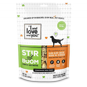 I and love and you Stir & Boom Dehydrated Freeze Dried Raw Dog Food, Chicken,