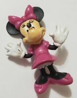 "DISNEY MICKEY & FRIENDS MINNIE MOUSE FIGURE 2.5"" CAKE TOPPER PURPLE DRESS BOW"