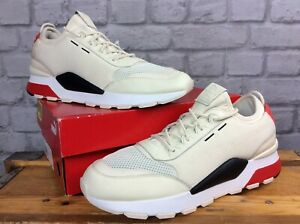 PUMA MENS UK 12 EUR 47 RS-0 PLAY CREAM RED BLACK TRAINERS RRP £80     EP