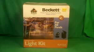 Becket Submersible Underwater Light Kit. Pond / Fountain Lighting, NOS REDUCED $