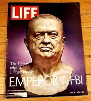 Vintage Life Magazine The 47 Year Reign Of J. Edgar Hoover April 9 1971