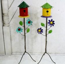 """45"""" Recycled Metal Birdhouse Shelter Home for Birds"""
