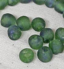 30 Antike Schliffkranz Perlen Ø 10mm Dunkelgelb