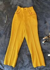 New listing Vintage 1930s 1940s Mustard Ochre Yellow Wool Western Riding Pants Slacks