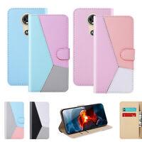 Flip Magnetic Stand Wallet Card Case Cover Fr Motorola E5 Power/G7 Plus/G7 Power