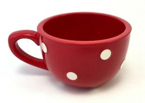 Graces Pantry Soup Mug / Latte Cup Red White Polka Dots Bowl - Grace's Pantry