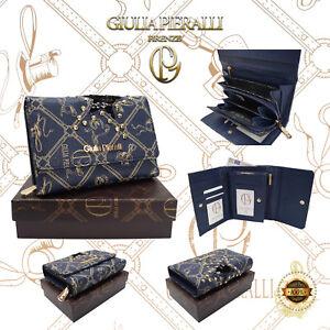 ★Damen XL Geldbörse Giulia Pieralli Design klein Portemonnaie Geldbeutel Blau ★
