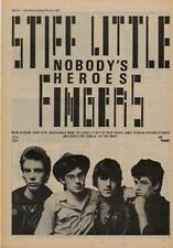 Stiff Little Fingers Nobody's Heroes Advert NME Cutting 1980