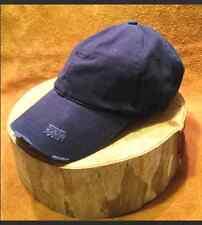 Blue Distressed Vintage Cap / Hat 100% Cotton unconstructed low profile Free S&H