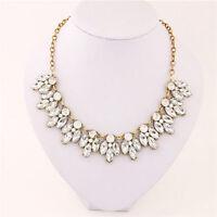 Fashion Jewelry Bib Crystal Statement Pendant Chain Choker Collar Necklace