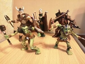 5 x Fantasy warrior figures - Papo /ELC type