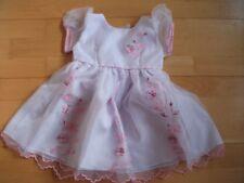 Taufkleid  weiß mit rosa  Stickerei 3teilig  Hut und Schuhe  Gr.68