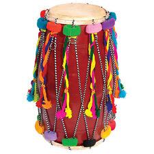Large double ended décorées bhangra dhol tambour indien traditionnel