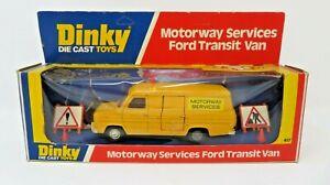 DINKY  417 DIECAST MOTORWAY SERVICES FORD TRANSIT VAN - BOXED