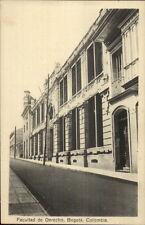 Bogota Colombia Facultad de Derecho c1915 Postcard