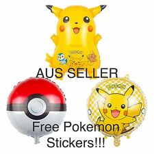 3 X NEW POKEMON GO BALL BALLOONS OFFICIAL PARTY SUPPLIES Toy  Gift 45cm Pikachu