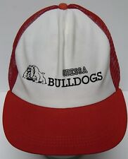 Vintage 1980s ODESSA BULLDOGS MISSOURI HIGH SCHOOL SNAPBACK ADVERTISING HAT CAP