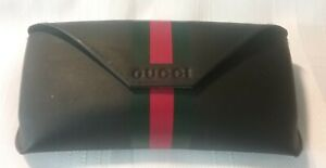 Original Gucci Glasses Case, Black with Green and Red Stripe