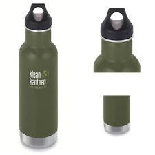 Flasche Klean Kanteen oliv doppelwandig Edelstahl Trinkflasche Outdoor Loop NEU