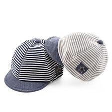 Cute Summer Soft Boy Cotton Striped Baby Sun Cap Baseball Cap Sun Hats