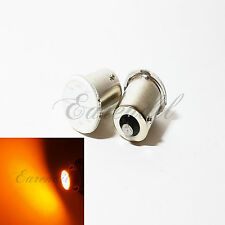 1156 Amber Yellow COB 12 Chip LED 2x Bulb #Pt4 P21W BA15s Rear Turn Signal Light