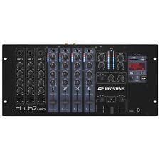 CLUB7-USB Mischpult DJ Mixer mit USB Player und 3 x Mic in Audiomixer DJ Pult