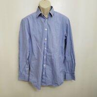 Charles Tyrwhitt Mens Extra Slim Fit Dress Shirt 16.5 35 Blue Red Plaid Cotton