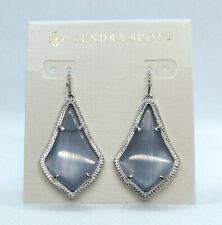 Kendra Scott Alex Drop Earrings in Slate Cats Eye / Silver