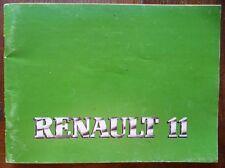 RENAULT 11 R11 PHASE 2 MANUEL UTILISATION NOTICE EMPLOI