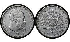 5 Mark 1906 Kingdom of Württemberg (German States) Silver Coin Wilhelm II # 632