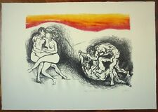RENATO GUTTUSO litografia 1971 'L'ITALIA DEL CENTENARIO LA GUERRA E LA PACE (46)