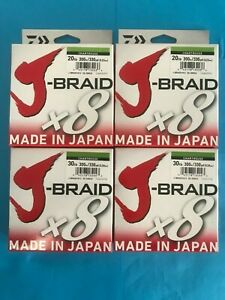 Daiwa J-Braid 300 Meter Chartreuse 8 10 15 20 30 40 50 65 80 LB CH J-Braid x 8