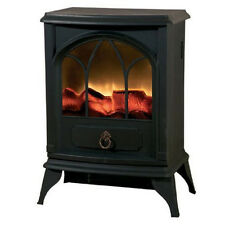 2000W FLAME EFFECT LOG BURNING STOVE HEATER ELECTRIC FIRE PLACE FIREPLACE FAN