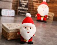 "10"" Christmas Santa Claus Stuffed Plush Doll Tree Ornament Decoration Toy X-Mas"