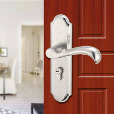 Entry Lever Door Lock Set Handle Home Entrance Passage Bath  Stainless Steel USA