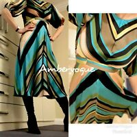 ZARA NEW F/W 2020 FLOWING MULTICOLOURED STRIPED SATIN MIDI DRESS SIZE M