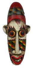 """Indonesian Hand Painted Wooden Tribal Ceremonial Tiki Mask 26"""""""