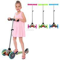 Kids Scooter Deluxe for Age 3-8 Adjustable Kick Scooters Girls Boys 3 LED Wheel_