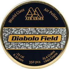 Air Arms Diabolo Field Air Gun Pellets .25 / 6.35 mm Qty 350 Free Express P & P