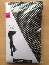 XXL BLACK FISHNET TIGHTS WITH SEAM BACK to 60 inch hips
